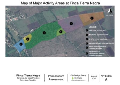 Tierra Negra Map of Major Activity Areas